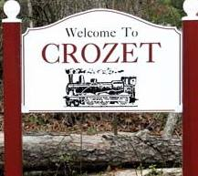 Welcome to Crozet sign