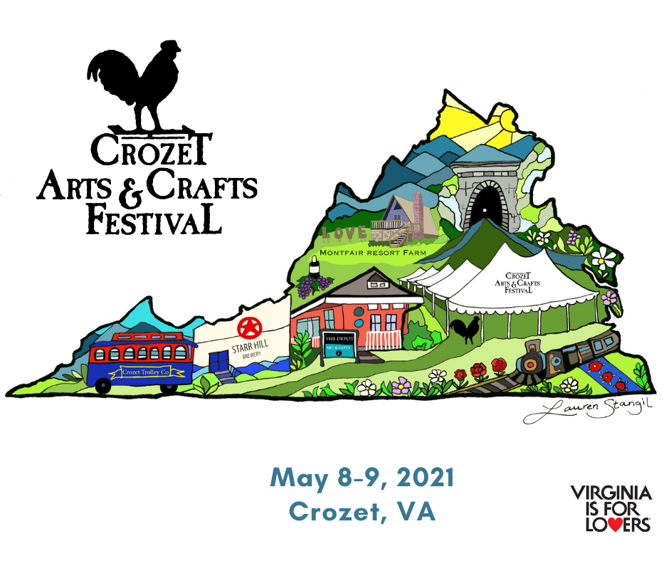 Image of Virginia for the Crozet Arts and Crafts Festival May 2021